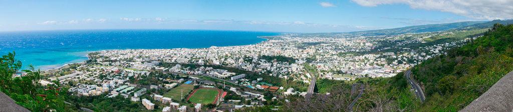 photographie par Gko Prod reunion ville panoramique paysage ocean indien