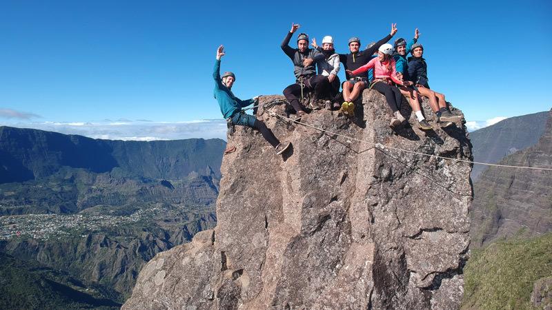Thierry Gillet escalade aux Trois Salazes Réunion