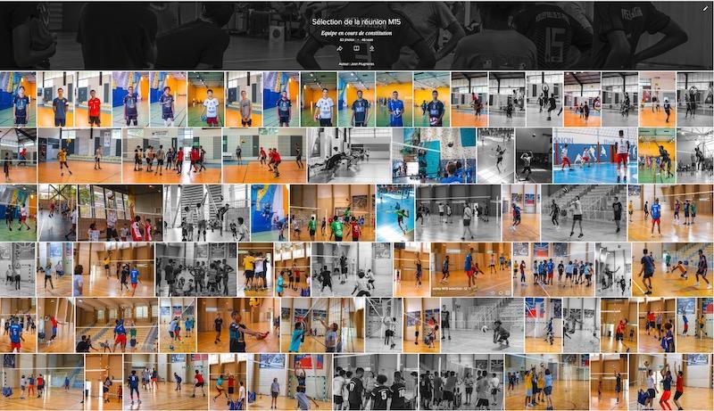 galerie photos Ligue volley Réunion 974 minimes sélection M15