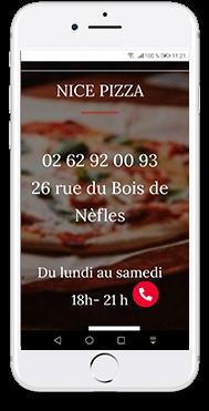 pizzeria gko creation de site web responsive