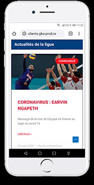 Volley ball Ligue Réunion création site internet gko prod