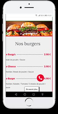 menu restaurant nice pizza création de site internet gko prod