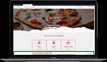 Nice Pizza 974 Saint Denis Réunion site création par GKO PROD Réunion