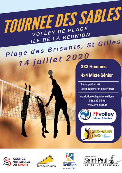 affiche tournée des sables beach volley Réunion 2020